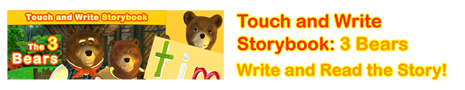 Touch and Write: 3 Bears
